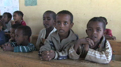Ethiopia: Young students say alphabet Stock Footage