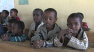Stock Video Footage of Ethiopia: Young students say alphabet
