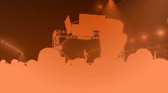 Consert area orange HD Stock Footage