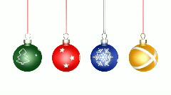 Christmas Balls Loop Stock Footage