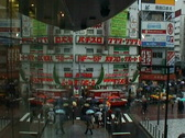 Stock Video Footage of Downtown Tokyo by rain