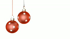 Two Christmas Ornaments Loop  - stock footage
