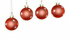 Four Christmas Ornaments Zoom  Stock Footage