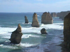 The twelve apostles Stock Footage