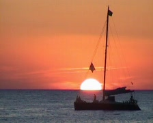 Sunset on Ibiza Stock Footage