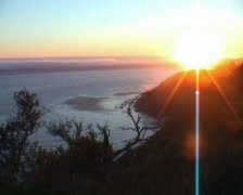 California sunset Stock Footage
