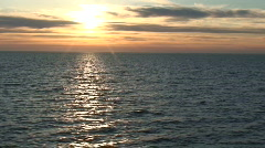Sunset from the cruise ship 9 - stock footage