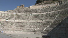 Jordan: Roman Theater in Amman Stock Footage