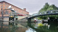 Camden lock london canal urban city Stock Footage