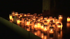 Candle light outdoors 14 Stock Footage
