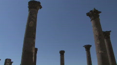 Jordan: Columns at Gadara Stock Footage