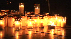 Candle light outdoors 12 Stock Footage