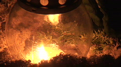Candle light outdoors 1 Stock Footage