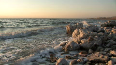 Dead Sea at Sunset Stock Footage