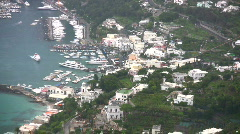 Island of Capri aerial view Stock Footage