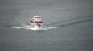 Passenger ferry boat Stock Footage