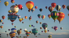 Editorial: Hot Air Balloons Stock Footage