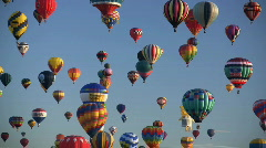 Editorial: Hot Air Balloons - stock footage