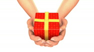 HANDS GIFT  Stock Footage