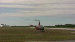 Helicopter departing Stock Footage