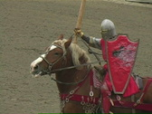 Stock Video Footage of Knight Jousting