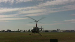 Helicopter landing - stock footage