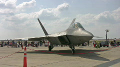 F-22 Raptor three views HD Stock Footage