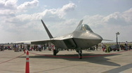 Stock Video Footage of F-22 Raptor three views HD