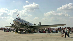Airshow pan C47 to B17 HD Stock Footage