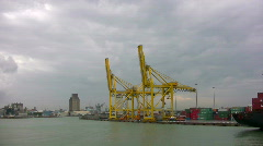 Commercial port  Stock Footage