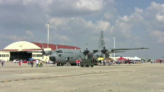 C130 Hercules airshow flightline HD Stock Footage