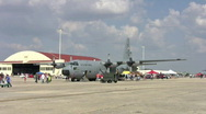 Stock Video Footage of C130 Hercules airshow flightline HD