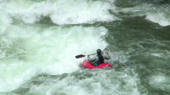 Red kayak - stock footage