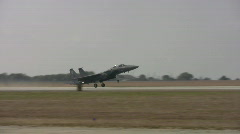 F-15 take-off and landing segments HD Stock Footage
