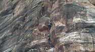 Stock Video Footage of Rock Climbing in Zion National Park Utah