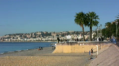 Promenade in Nice France Stock Footage