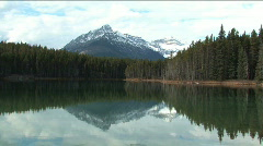 Glacier Lake near Jasper Alberta - stock footage
