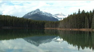 Stock Video Footage of Glacier Lake near Jasper Alberta