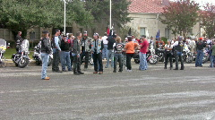 Motorcycle rally Veterans Day HD - stock footage