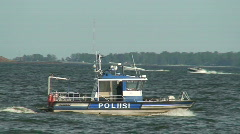 Sea police motorboat 1 Stock Footage