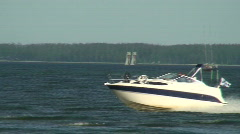 Sea motorboat 25 Stock Footage
