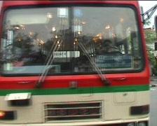 Bus encounter Stock Footage