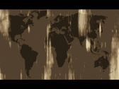 Stock Video Footage of Map of the World - grungy style