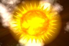 Radiant sun rays (solar wind) - digital animation - stock footage