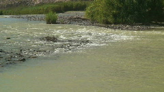 Muddy shallow water part of Rio Grande TX Stock Footage