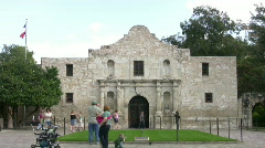 Alamo shrine front tourists Timelapse HD Stock Footage