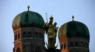 Stock Video Footage of Germany Munich Church of our lady New town hall Rathaus
