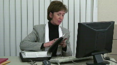 Law office woman Stock Footage