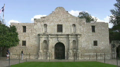 Stock Video Footage of Alamo zoom in to window HD