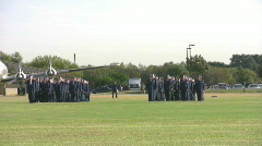 USAF Parade field closer pan RT HD - stock footage